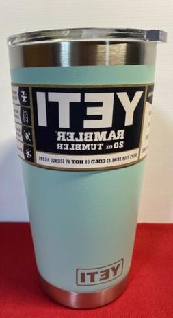 YETI~20oz Rambler Tumbler~ Color~Seafoam With Lid. NEW! Free