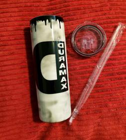 20oz Skinny Duramax Diesel Oil Run Vinyl Epoxy Tumbler With