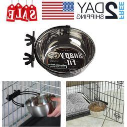 20oz Stainless Steel Pet Food Water Bowl Hanging Bowl Feedin