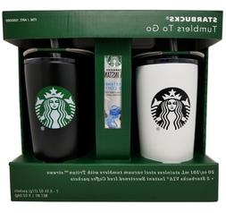 STARBUCKS 20oz Stainless Steel Tumbler To Go 2pk Gift Set -