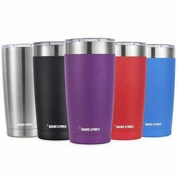20oz Stainless Steel Tumbler with Splash-Proof Lid - Insulat