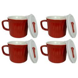 Corningware 20oz Tomato Red Meal Mug with Lid