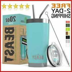 """20oz Vacuum Insulated Tumbler Yeti Rambler Cup Non-Spill Li"