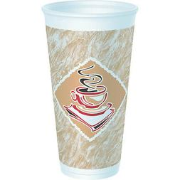 Dart 20X16G, 20 Oz Cafe G Red Accents Stock Printed Foam Cup