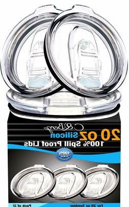 2 Yeti Lids 20 oz SPILL PROOF - NO LEAK & Splash resistant V