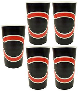 5 Chicago Bears Football 20oz Cups - BPA Free - Dishwasher S