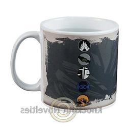 Vandor 79061 Divergent 20 Ounce Heat Reactive Ceramic Mug, B