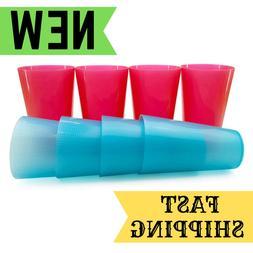 8X 20-Ounce Break Resistant Drinking Glass Cups Plastic Tumb