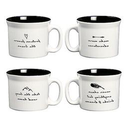 Amici Home, 7CW009AS4R, Wanderlust Coffee Mug Collection, Ce