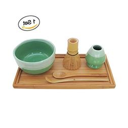 BambooMN Brand - Matcha Bowl Set  1 Set Mint Green