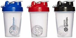 Blender Bottle Classic Loop Top Shaker Bottle, 20-Ounce 3-Pa