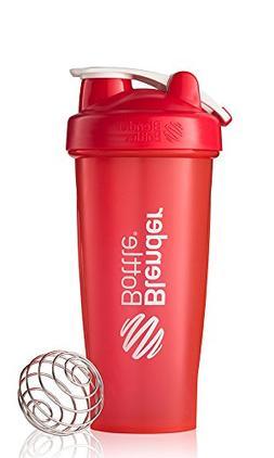 BlenderBottle Classic Loop Top Shaker Bottle, Red/Red, 28-Ou