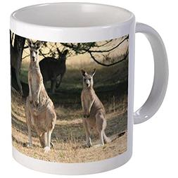 CafePress - Kangaroos Lined Up In A Row Mugs - Unique Coffee