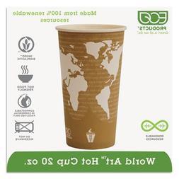 Eco-Products EPBHC20WA World Art Renewable Compostable Hot C