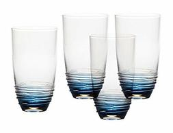 Mikasa Swirl Cobalt Highball Glass , 20 oz