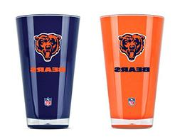 NFL Chicago Bears 20oz Insulated Acrylic Tumbler Set of 2