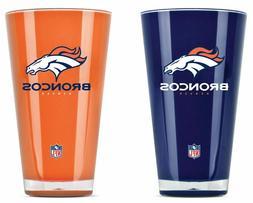 NFL Denver Broncos 20oz Insulated Acrylic Tumbler Set of 2