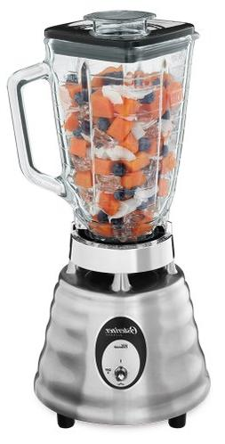 Oster 4093-008 5-Cup Glass Jar 2-Speed Beehive Blender, Brus