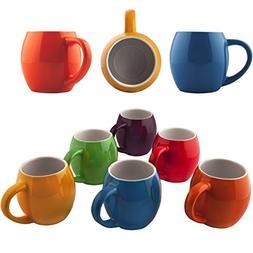 Primrose Colorful Mugs by Madero Kitchen - Set of 6 Ceramic