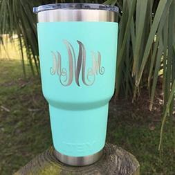 YETI Rambler Engraved Custom w/Monogram Design New DuraCoat