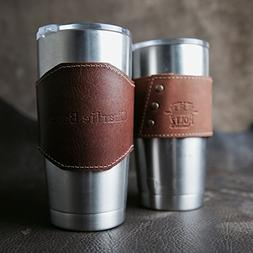 The Apollo Personalized 20 oz Yeti Leather Drink Cooler Slee