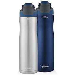 Contigo AUTOSEAL Chill Stainless Steel Water Bottles, 24 oz,