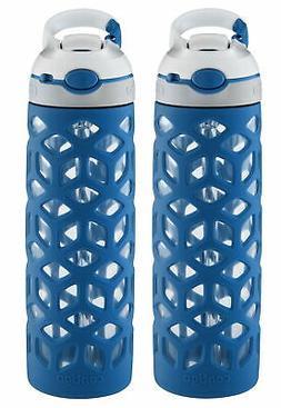 Contigo AUTOSPOUT Straw Ashland Glass Bottle w/Silicone Slee