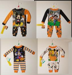 Disney Baby Toddler Mickey Mouse Pajamas Halloween Glow In D