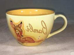 Bambi Disney Store Exclusive Lg Coffee Mug Cup Soup Bowl Tea