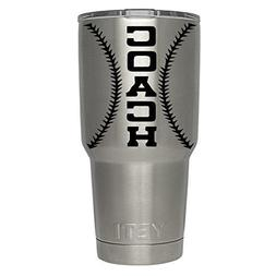 Baseball Softball custom name coach decal for yeti,rtic, oza