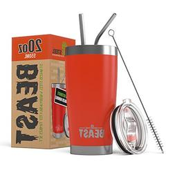 BEAST 20 oz Red Tumbler Stainless Steel - Insulated Coffee C