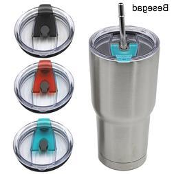 Behogar Besegad 3pcs Spill Proof Splash Resistant Straw Frie