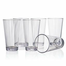 Bistro Premium Quality Plastic 20oz Water Tumbler | Set of 6