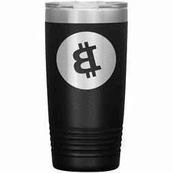Bitcoin Tumbler 20oz Laser Engraved Logo BTC Cryptocurrency
