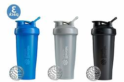 BlenderBottle Classic Loop Top Shaker Bottle 3-Pack, 28 oz,