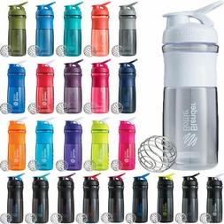 BlenderBottle SportMixer Shaker Cup 20 oz Blender Bottle WHI
