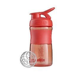 BlenderBottle SportMixer Tritan Grip Shaker Bottle, Black/Pi