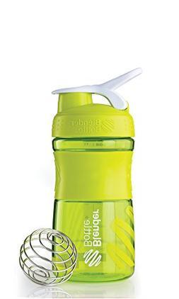BlenderBottle SportMixer Tritan Grip Shaker Bottle, Green/Wh