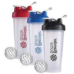 BlenderBottle 3-Pack Water Bottle of 28oz, Blue/Black/Red, 2