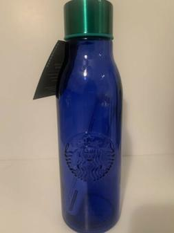 Starbucks Blue Recycled Glass Water Bottle 20oz - Made In Sp