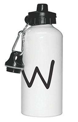 "Bold Letter""W"" Initial Monogram Design Sports Water Bottle S"