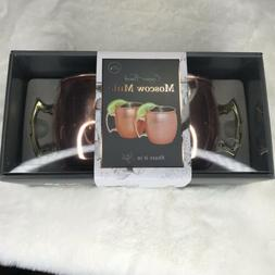 Brand New Copper Finish Moscow Mule Mugs with handle, 20 oz.