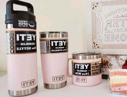Brand New YETI Rambler 14-18-20 oz ~ New Color: Ice Pink