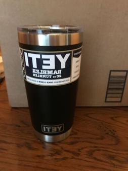 Brand New Yeti Rambler 20oz Tumbler Cup Black