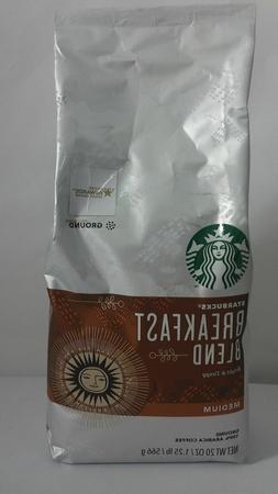 STARBUCKS BREAKFAST BLEND MEDIUM ROAST GROUND COFFEE 20 OZ