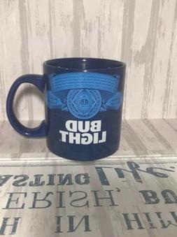 Bud Light 20oz Blue Ceramic Coffee Mug  2018 Anheuser-Busch