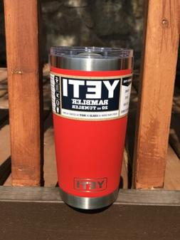 canyon red 20oz rambler tumbler authentic w