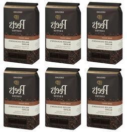 CASE 6  Bags Peet's Major Dickason's Dark Roast Ground Coffe