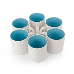 Panbado Ceramic Tea Cups Coffee Mugs, 15 oz./440 mL, Gray/Li