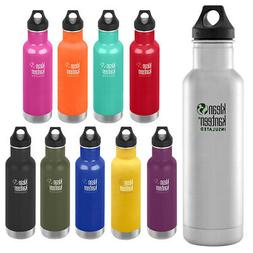 Klean Kanteen Classic 20 oz. Insulated Bottle with Loop Cap